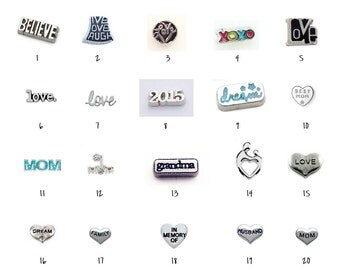 Floating Locket Charms 1-20