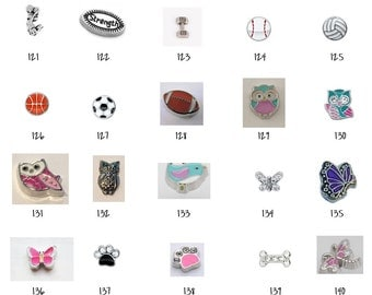 Floating Locket Charms 121-140