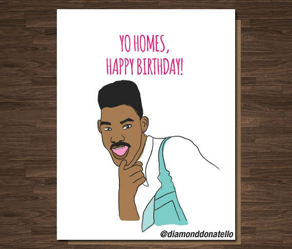 Funny Birthday Card For Him Will Smith Fresh Prince Of Bel
