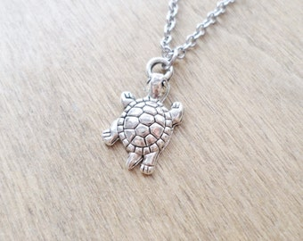 Small Silver Turtle Necklace