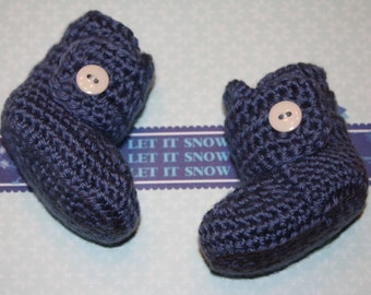 Baby Boys Boots--0-3 months