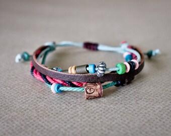 Beaded Friendship Bracelet, Friendship Bracelet, Bracelet Charm, Hippie Bracelet, Beaded Bracelet, Beadwork Bracelet, Handmade Bracelet