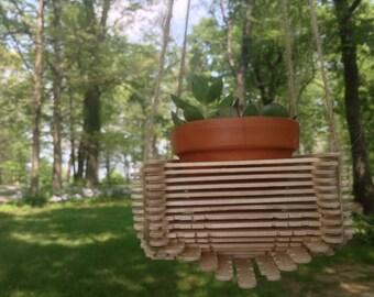 Small geometric hanging planter