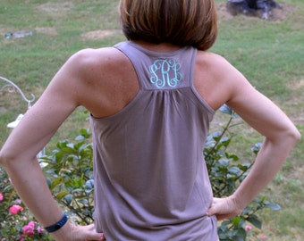 Monogrammed Bella Flowy Tank Top-FIVE new colors for Spring