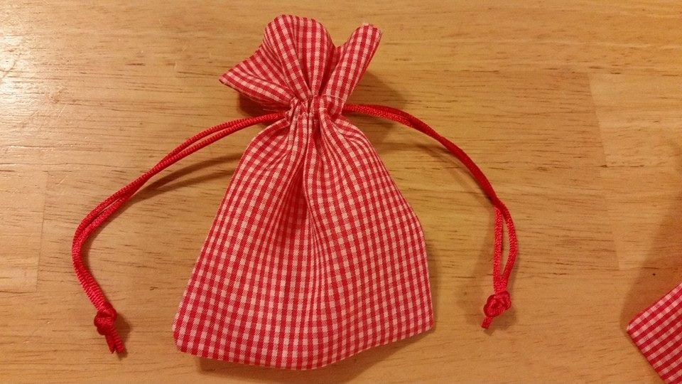 Red Wedding Gift Bags : 25 Gingham Red Favor Bags wedding favors by PurpleOrchidSoapShop