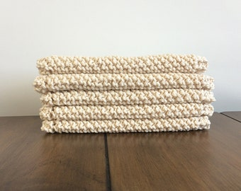 Hand Knit Cotton Dish Cloth *Custom Quanitity* FREE SHIPPING