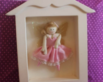 An Adorable White and Pink Fairy Ballerina Wall Hanging