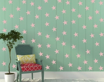 FREE SHIPPING Wall Decal Pink Stars. 77 Stars. Nursery Wall Decal. Wall Art. Vinyl Wall Decal.