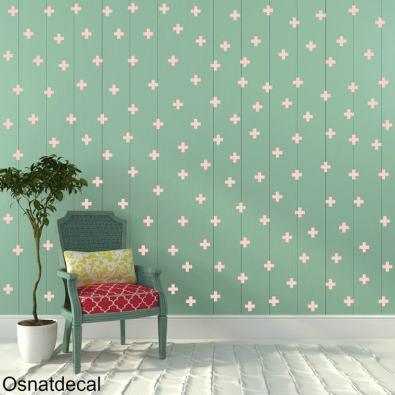 FREE SHIPPING Wall Decal Plus, Color Pastel Pink Color.179 Wall Decal. Nursery Wall Decal. Kids Wall Decal. Vinyl Wall Decal.Home Decor