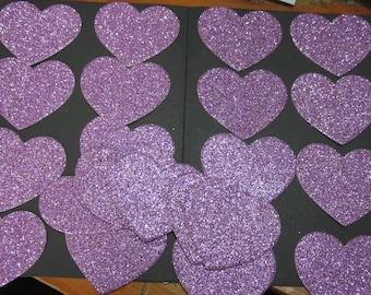 21x 4.5cm Pink Glitter Heart die cuts