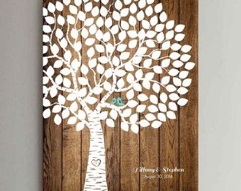 150 Guest Wedding Guest Book Wood Wedding Tree Wedding Guestbook Alternative Guestbook Poster Wedding Guestbook Poster - Wood