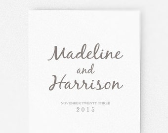 Wedding Program Template, wedding ceremony program  | Printable Instant Download  | DIY | Calligraphy