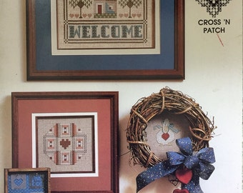 Patchwork Welcome Cross Stitch Pattern