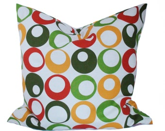Sale!!, Pillow cover, 16x16, Red throw pillow, Yellow pillow cover, Modern pillow, Decorative pillow for couch, Cheap pillow, Cushion cover