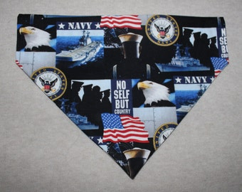 United States Navy Dog Bandanna in Small, Medium & Large