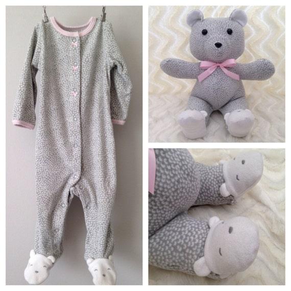 Keepsake Bear Memory Bear Teddy Bear Made from Baby esie