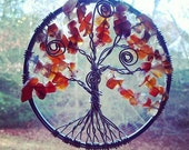 "3"" Custom Tree of Life // Suncatcher, Rear-View Mirror Hanger // MADE TO ORDER"