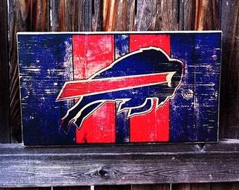 Buffalo Bills Team Logo Wooden Wall Hanging