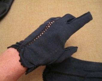 Vintage Black Gloves size 7