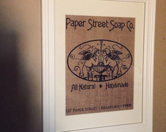 Fight Club - Paper Street Soap Co.  Burlap Print 8.5x11 - Framed