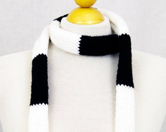 Knives Chau Scarf, Black and White Striped Knit Geeky Scarf from Scott Pilgrim vs The Worlde