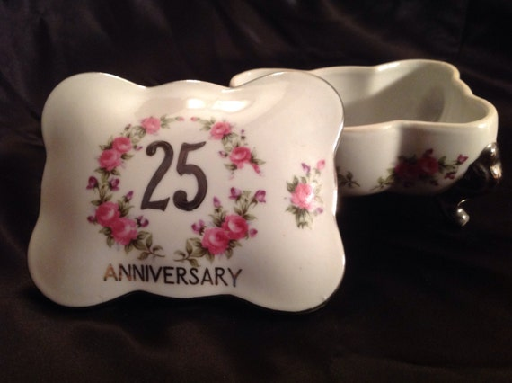 25th Wedding Anniversary Gifts Jewelry : 25th silver wedding anniversary gift, anniversary jewelry trinket box