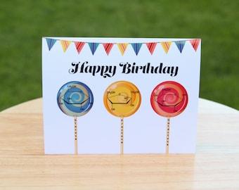 Printable Chemistry Nerd Birthday Card