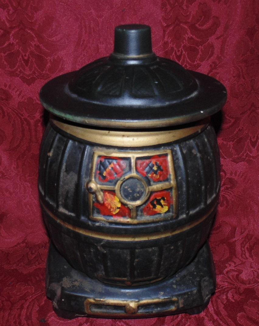Vintage Mccoy Pot Belly Stove Cookie Jar