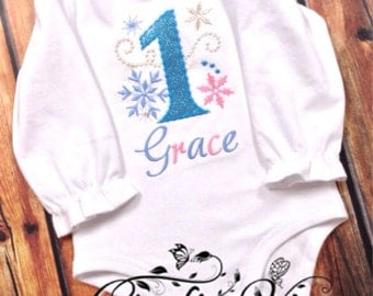 Snow princess birthday shirt