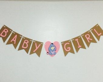 Eeyore baby girl banner Winnie the Pooh baby shower banner eeyore banner