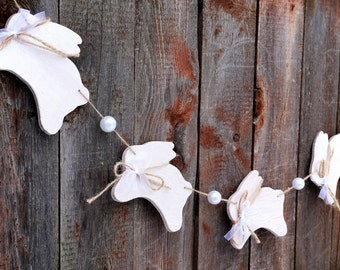 Bunny garland Easter garland Easter party decor Happy Easter banner Nursery garland Easter banner Door garland easter home decor Wood banner