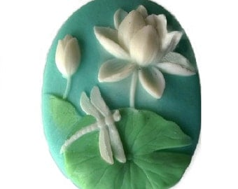 Lily Pad & Dragonfly Guest Soap 100% Natural Handmade  Decorative Soaps Customize: SCENT, COLOR, and TYPE of Soap!