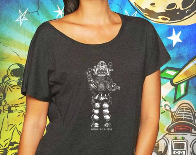 Robby the Robot Vintage Black Women's Dolman T-Shirt