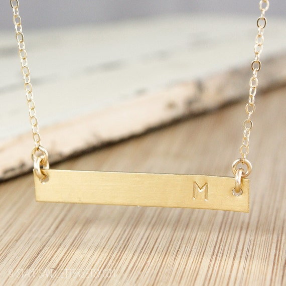 real gold bar necklace best necklace 2017