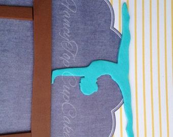 Gymnast on Balance Beam fondant cake topper (HANDMADE and Edible)