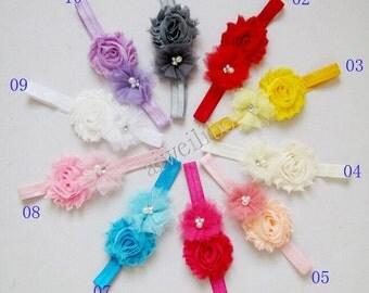 Shabby Mesh Flower Headband,Shabby Headband, Baby Girl Headbands