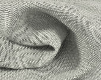 Light Gray Burlap Fabric - by the Yard