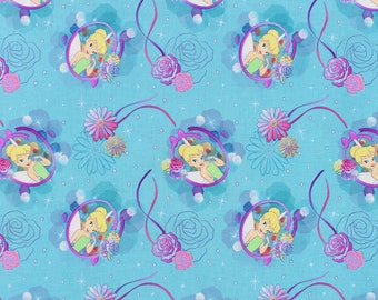 Disney Tinkerbell Petal Perfect Cameo Fabric - by the Yard