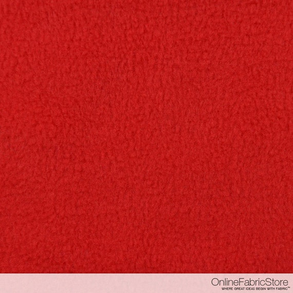 red fleece fabric by the yard. Black Bedroom Furniture Sets. Home Design Ideas