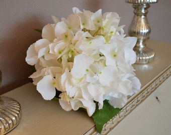 Large White Artificial Hydrangeas