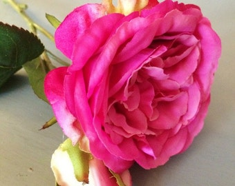 Pink Vintage Artificial Cabbage Roses