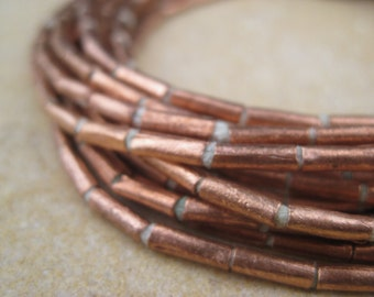 Copper Tube Beads From the Villages of Ethiopia! African Metal Beads - Copper Spacers - Wholesale African Beads - Copper Beads 236