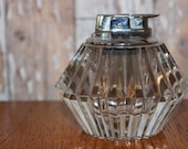 Ronson Heavy Glass Faceted Table Lighter