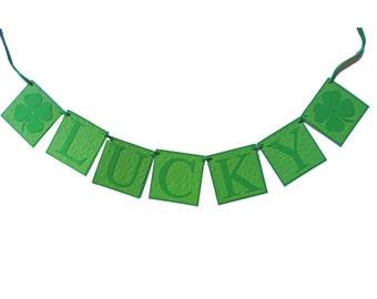 St Patricks Day Banner, St Patricks Banner, Irish Garland, St Patricks Decor, Shamrock Banner Irish Banner, St Pattys Day Lucky Banner, Sign