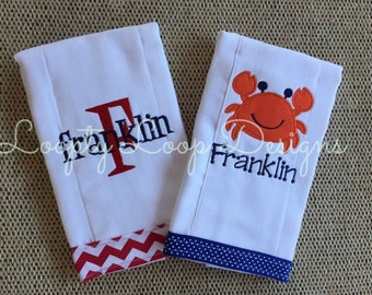 Set of 2 Personalized Burpcloths