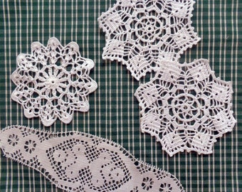 Small doilies and upholstery like fabric