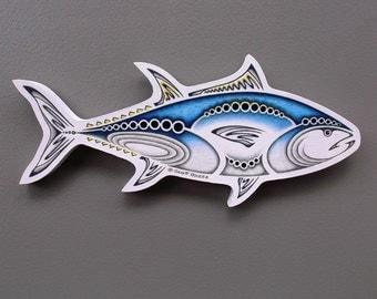 Bluefin Tuna, Canvas on Wood Wall Hanging Art