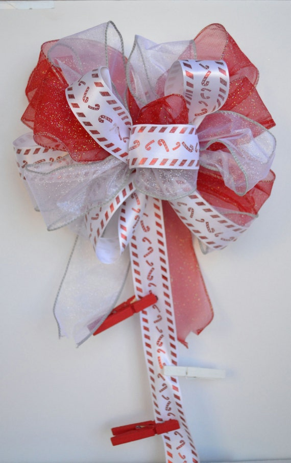Ribbon wall hanging card holder holiday card holder for Door xmas card holders