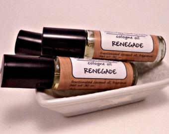 Renegade Cologne Oil, Roll On Cologne, Warm Tobacco & Bay Leaf, Mens Cologne Fragrance, Mens Grooming Oil, Mens Gift Under 10