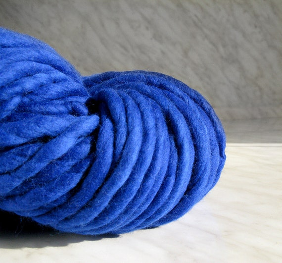 Super Bulky Yarn : Super super Bulky yarn, Extra chunky yarn ATLAS royalblue 16 oz (1 ...